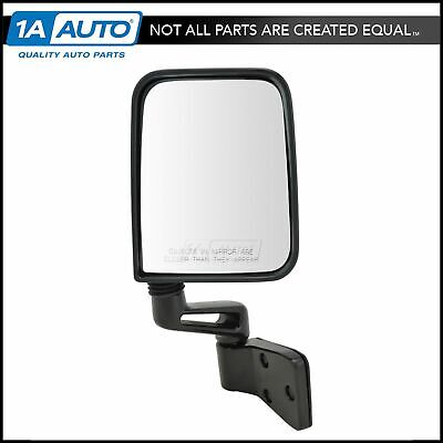 MOTOOS Passenger Right Side Door Mirror Manual Fold Black Textured Replacement Mirror Fit for 2007-2010 Jeep Wrangler
