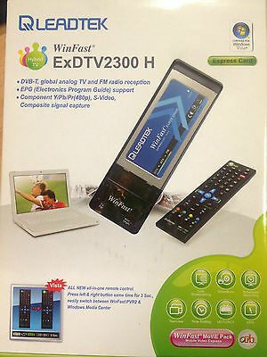 LEADTEK WinFast ExDTV2300H DVB-T Express Card 34mm 480P Video In **CLEARANCE**
