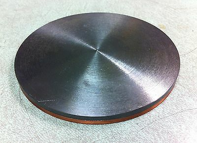 """Yttrium sputter target, 4.00"""" dia x 0.125"""" thick, bonded to copper back plate"""