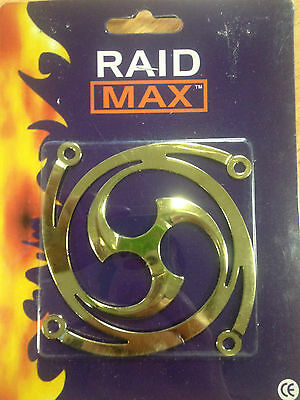 2 x RAID MAX GOLD 80mm Fan Grill - NEW OLD STOCK - CLEARANCE **BEST PRICE**