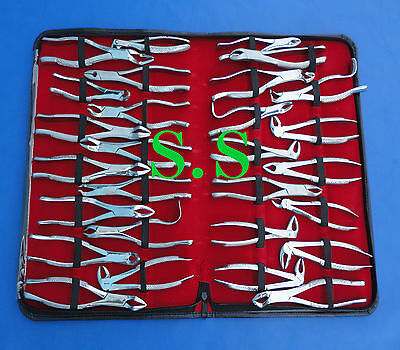28 Piece Tooth Extracting Forceps Dental Surgical Instruments