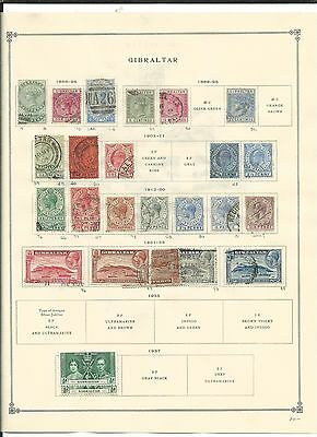 Gibraltar 1886 to 1972 Collection on Scott International Pages, SCV $180