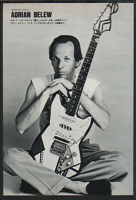 1984 Adrian Belew JAPAN mag photo pinup / king crimson / clippings