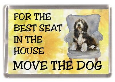"Bearded Collie Dog Fridge Magnet  ""For the Best Seat ......."" by Starprint"