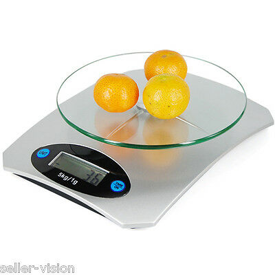 5kg Digital LCD Electronic Glass Kitchen Postal Scales Portable Kitchen Weight