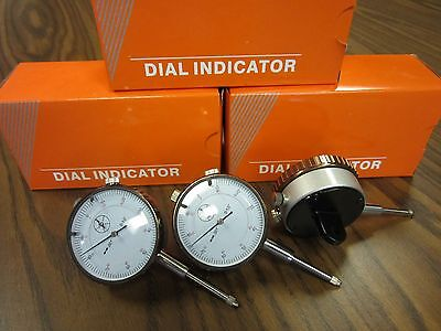 "3pcs 0-1"" travel, 0.001"" graduation Dial Indicator #301-451- NEW"
