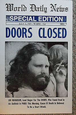 """World Daily News """"Doors Closed"""" Special Edition  Poster"""