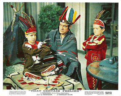 "BOB HOPE in ""That Certain Feeling"" Original Vintage COLOR LOBBY CARD 1956"