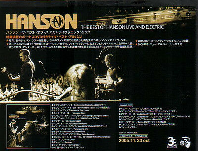 2005 Hanson The Best of JAPAN album promo ad / advert / clippings cuttings photo