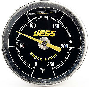 JEGS Performance Products 41000 Liquid-Filled Engine Thermometer