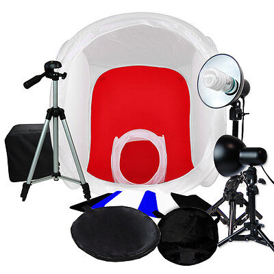 "Photo Studio 32"",12"" Photography Tent Light Backdrop Kit In A Box Cube Lighting"