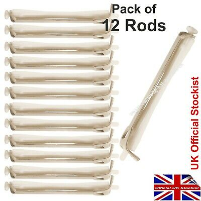 Perming Curler Rods To Perm Hair. White Perm Rollers. Pack of 12