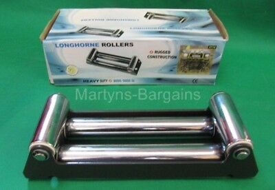 Winch Rollers for 8000 / 9000 lb Winch. Mountable Winch Rollers.Heavy Cast Steel
