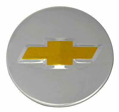 Genuine OEM Factory Center Caps Chevy Bow Tie Emblem Logo Chrome Finish 2 1/4 in