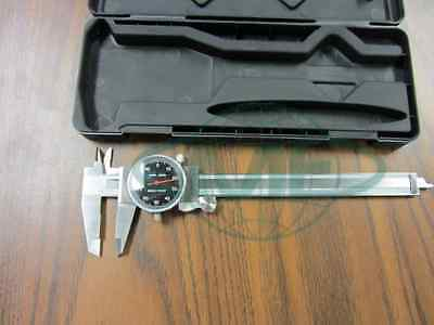 """6"""" PRECISION STAINLESS STEEL black face DIAL CALIPER--new"""