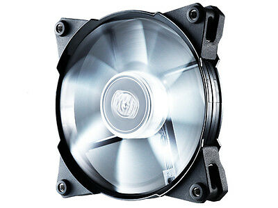 CoolerMaster JetFlo Jet Flo 120mm 12cm White LED PWM Case Fan - 95 CFM Cooling