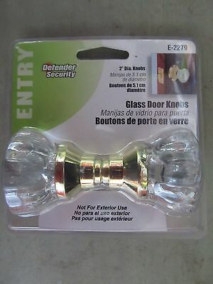 "Glass Door Knob Set  2"" fluted knob #E2279 Defender NEW"