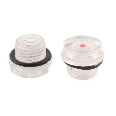 2 x Air Compressor Fittings Plastic Oil Tank Level Indicator Sight Glass 16mm