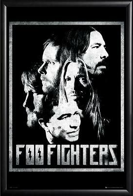Foo Fighters Poster fea. Dave Grohl, Mendel in Premium Black Wood Frame 24x36