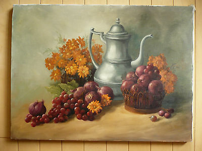 $195 OR BEST! vintage realist oil painting Ruth Jones, oil on canvas REALISM