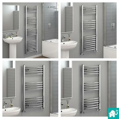 Designer Curved Chrome Ladder Towel Rail Central Heating Bathroom Radiator