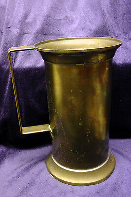 Vintage French Brass Tall Tankard