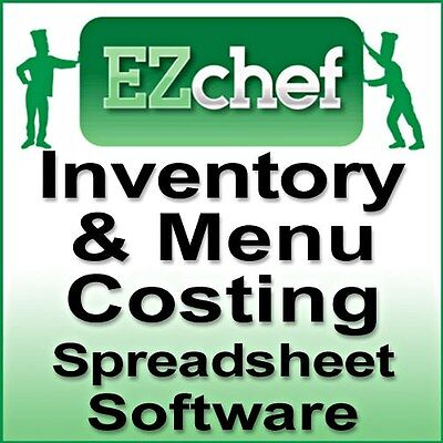 EZChef SOFTWARE Restaurant Inventory, Menu Costing Spreadsheets