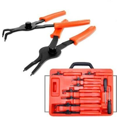 PRO 10 Pc. Auto Snap Ring Retaining Plier Set Internal & External Circlip Tools