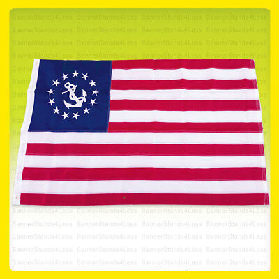 3x5 Ft EMBROIDERED NYLON Yacht Ensign Boating USA US American Boat Flag