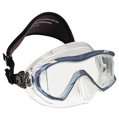Oceanic Ion 3X Panoramic View Scuba Diving Mask with Neoprene Strap Slate Blue