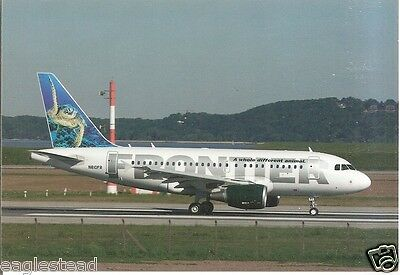Airline Postcard - Frontier - A318 111 - N810FR - Turtle Tail (P3100)