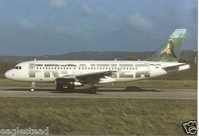 Airline Postcard - Frontier - A319 111 - D-AVYC - Seal (P3105)