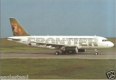 Airline Postcard - Frontier - A319 111 - N912FR- Fox (P3103)