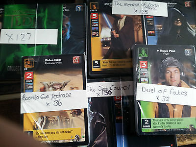 Star Wars Young Jedi Tcg Job Lot Of Different Cards X456