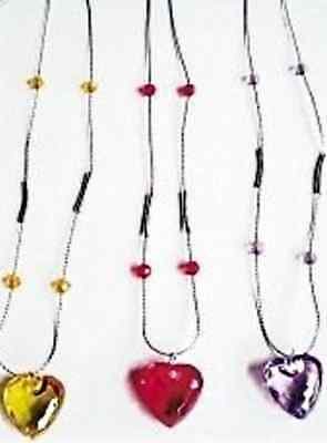 1 Collier Coeur Transparent Coloré Special Fille Nf