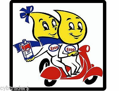 Esso Motor Oil Sign Refrigerator  / Tool Box Magnet  Man  Cave Gift Card Insert