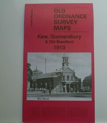 Old Ordnance Survey Maps Kew Gunnersbury & Old Brentford  London 1913 Godfrey Ed