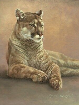 LION ART PRINT - Her Majesty by Kalon Baughan 19x13 Lioness Wildlife Poster