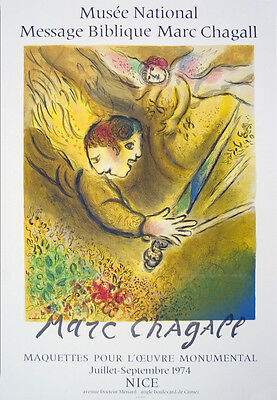 """1963 Vintage /""""OBSESSION 1943/"""" by MARC CHAGALL COLOR Art Plate Lithograph"""