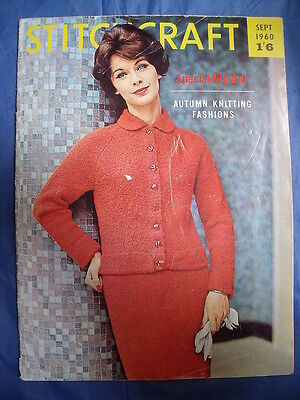 Vintage STITCHCRAFT SEPT 1961 knitting patterns sewing