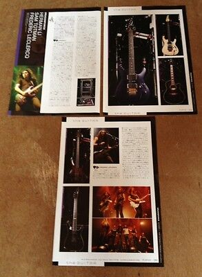 2009 Dragonforce guitars equip 4pg 14 photo JAPAN mag article/clippings cuttings