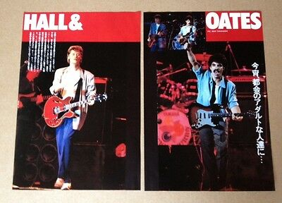 1983 Hall & Oates 2pg 3 photo in JAPAN mag feature / clippings cuttings