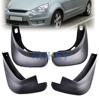 4PCs FOR 2006 ONWARDS FORD S-MAX MOLDED MUD FLAP FLAPS SPLASH GUARD MUDGUARDS
