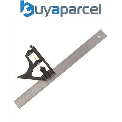 """Stanley 12"""" 300mm Metal Combination Try and Mitre Square STA246222 2-46-222"""