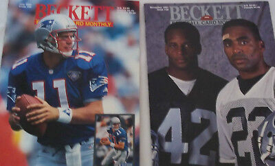 Lot of 2 Beckett Football Card Monthly Magazines 1991 and 1995