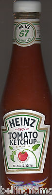 Heinz Iconic 14oz.Glass Ketchup Bottle, Filled with FRESH Ketchup!  FASTFREESHP
