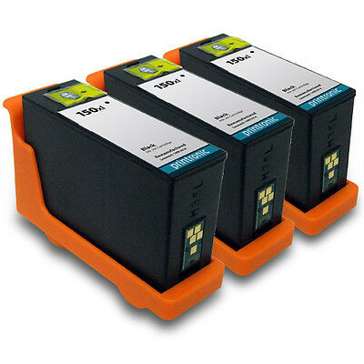 Compatible 3 pack for Lexmark 150 150XL Black Ink S315 S415 S515 pro 715 915