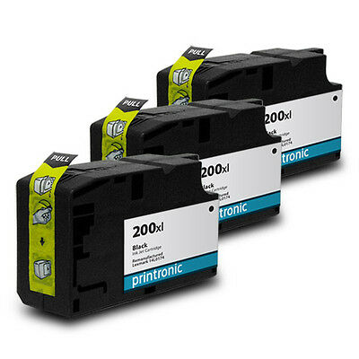Compatible 3 pack for Lexmark 200 200XL Black Ink Cartridge Pro 4000 5500 5500t