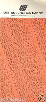 Airline Timetable - United - 05/09/79 - Cargo