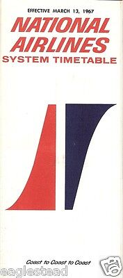 Airline Timetable - National - 13/03/67